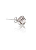 Love Knot Silver Stud Earring - Sterling Silver - LeCalla