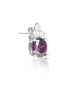 Purple Stone Stud Earrings - Sterling Silver - LeCalla