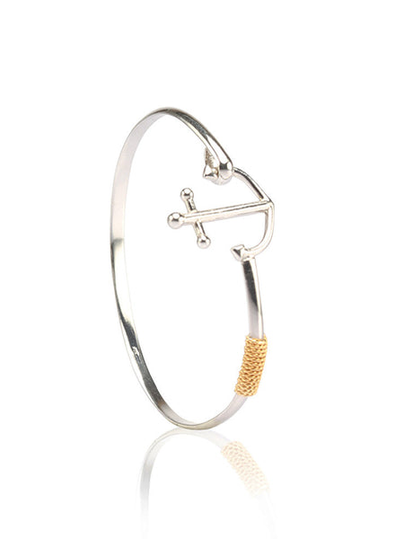 Anchor Rope Stunning Bangle - Sterling Silver - LeCalla