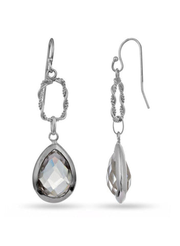 Silver Drop earring in 925 silver-lecalla.in