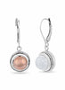 Silver, Rose Gold, earring in 925 silver-lecalla.in