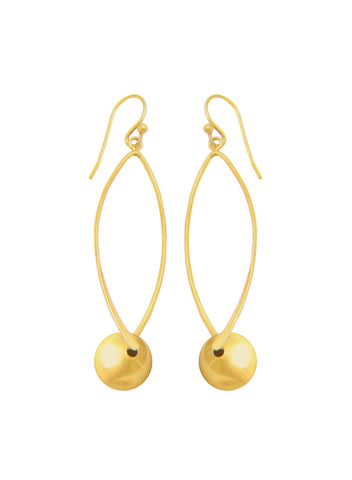 Gold plated Dangler Earring In 925 sterling silver - LeCalla