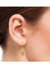 Yellow Gold Dangler earring in 925 silver-lecalla.in