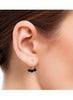 Black Beads Stud Earring in 925 silver-lecalla.in