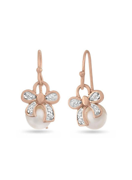 Rose Gold Dangler earring in 925 silver-lecalla.in