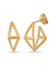 LeCalla Pentagon Architectural Hoop Earrings