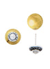 Gold plated Stud Earring In 925 sterling silver - LeCalla.in