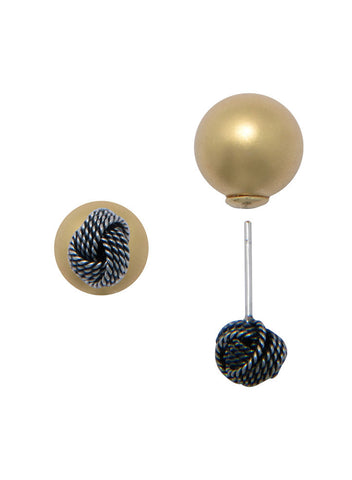Ball Post Stud Earring In 925 sterling silver - LeCalla.in