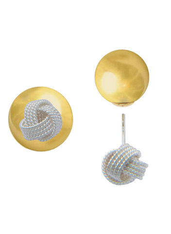 LeCalla Love Knot  Two Way Stud Earrings