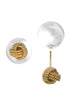 LeCalla Fashion Gold Love Knot Two Way Stud Earrings