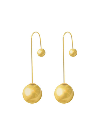 Gold plated Dangler Earring In 925 sterling silver - LeCalla.in