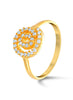 Yellow Gold Ring in 925 silver-lecalla.in