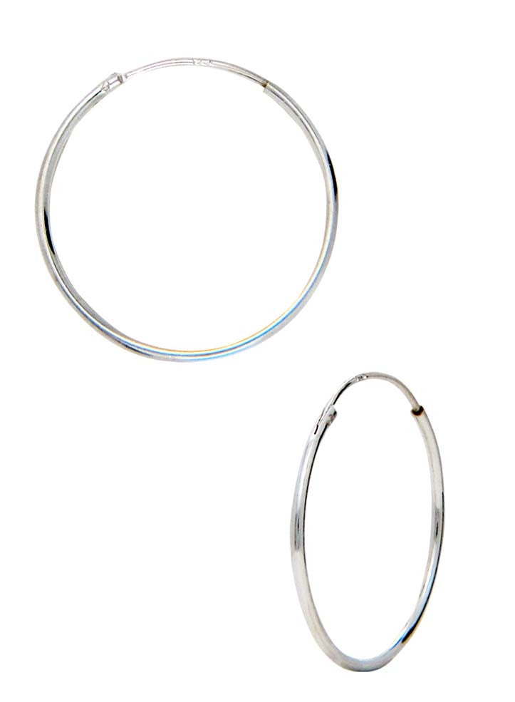 db9ff5eb3 Endless Basic Everyday Silver Hoop Earrings - Online India - Sterling  Silver LeCalla
