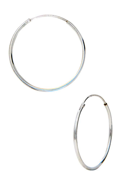 Endless Basic Everyday Silver Hoop Earrings - Online India - Sterling Silver LeCalla