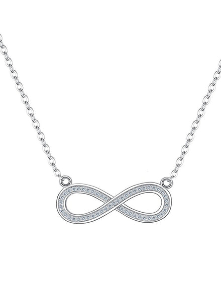 Infinity Rhodium Plated Delicate Necklace