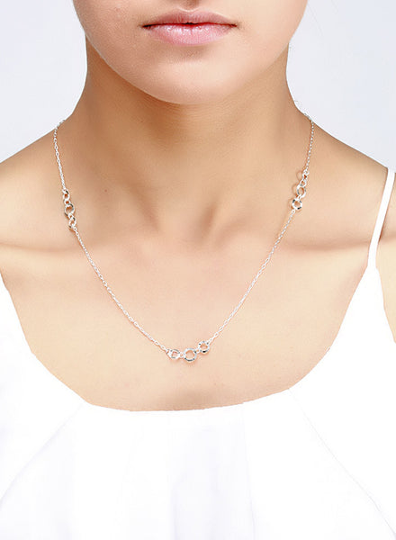 Diamond Cut Patterned Silver Chain