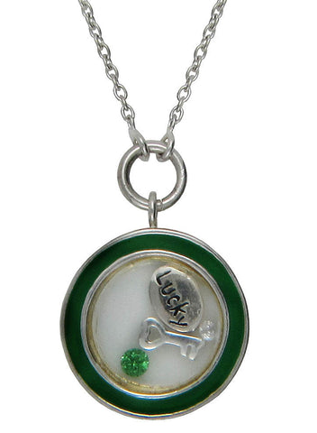 Lucky to Have you Looking Glass Pendant - Sterling Silver - LeCalla