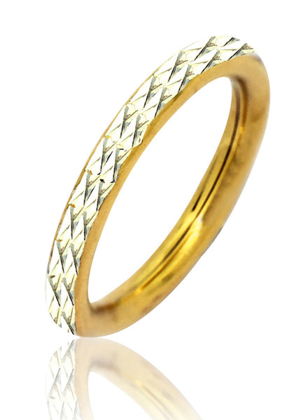 Gold Diamond Cut Band Ring