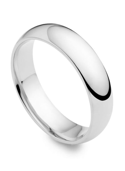Sleek Rhodium Plating Silver Band Ring for Women