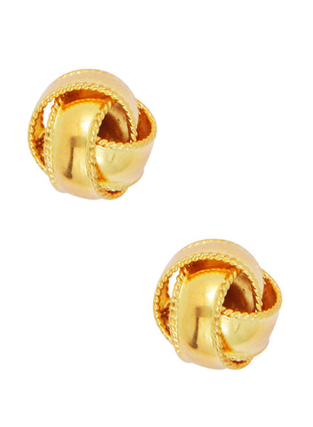 Gold Plated Love Knot Silver Stud Earring - Online India - LeCalla Sterling Silver