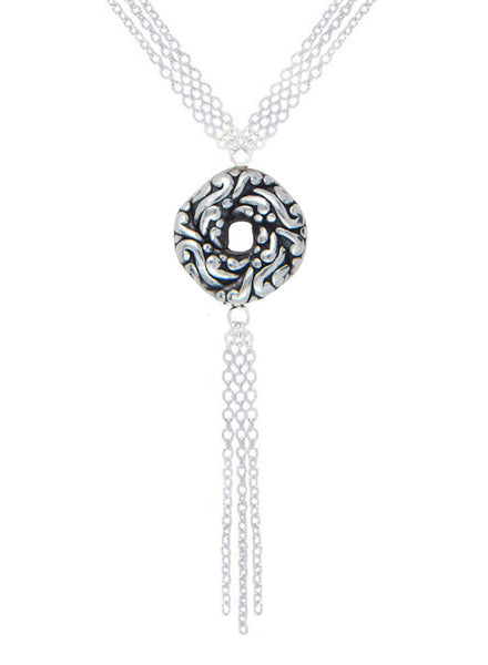 LeCalla Multi Chain Algerian Love Knot Necklace - Sterling Silver