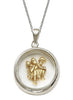 Lord Hanuman Gold Plated Looking Glass Pendant - Sterling Silver - LeCalla