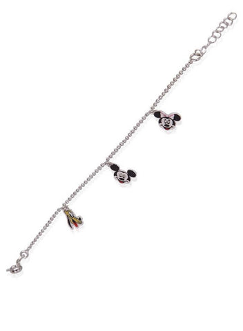 Mickey And His Friends Bracelet - Sterling Silver - LeCalla
