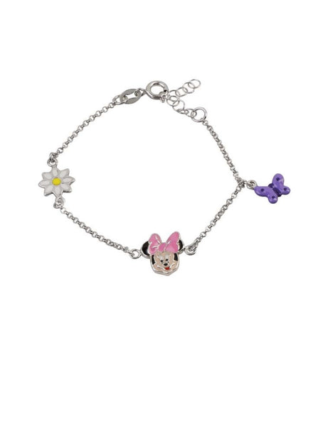 Smiling Minnie Mouse Disney Bracelet - Sterling Silver - LeCalla