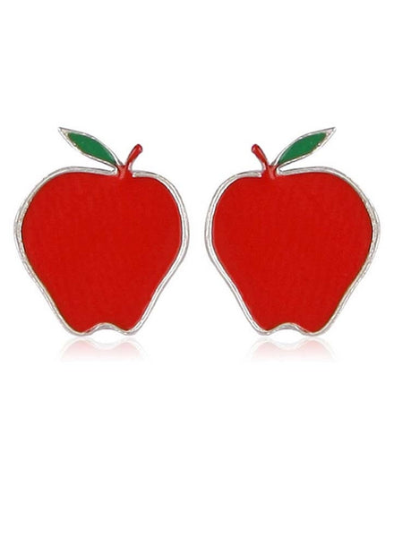 Red Apple Disney Earrings