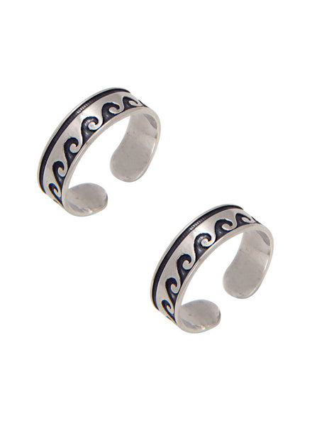 Oxidized Toe Ring in 925 silver-lecalla.in