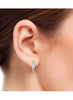 Silver, Yellow Gold  Stud earring in 925 silver-lecalla.in