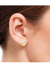 Yellow Gold, Silver Stud earring in 925 silver -lecalla.in