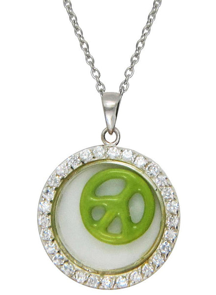 Peace for the Soul Looking Glass Pendant - Sterling Silver - LeCalla