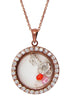Key to Heart Rose Gold Looking Glass Pendant - Sterling Silver - LeCalla