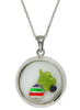 Casual Cool Looking Glass Pendant - Sterling Silver - LeCalla