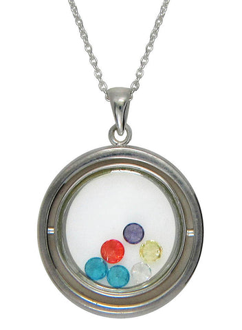 Revolving allowed Looking Glass Pendant - Sterling Silver - LeCalla