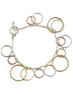 Three Tone Rings Silver Bracelet - Sterling Silver - LeCalla.in