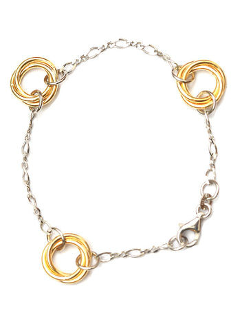 Love Knot Light Weight Bracelet - Sterling Silver - LeCalla.in