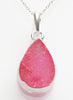Persian Rose Druzy Pendant - Sterling Silver - LeCalla