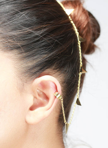 Extended Classy Ear Cuff - Brass - LeCalla