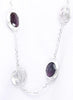 Matt Silver Long Necklace - Sterling Silver - LeCalla