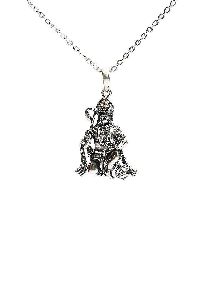 Lord hanuman pendant sterling silver religious gift lecalla lord hanuman pendant sterling silver religious aloadofball Image collections