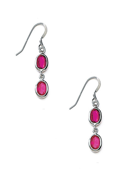 Captivating Pink Dangler Earrings - Sterling Silver - LeCalla