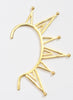 Spooky Trendy Ear Cuff - Brass - LeCalla