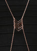 Rose Gold Chevron Body Chain - Brass - LeCalla