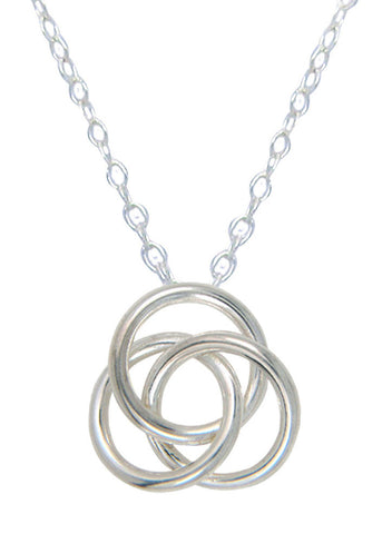 Dainty Love Knot Silver Necklace - Online India - LeCalla Sterling Silver Gifting