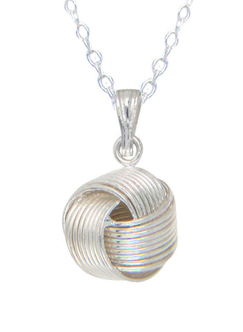 Trendy Ball Style Love Knot Silver Necklace - Sterling Silver LeCalla - Online India