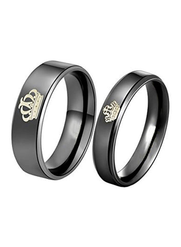 "LeCalla Sterling Silver ""King & Queen"" Couple Rings"