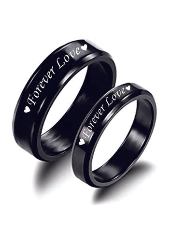 "LeCalla ""Forever Love"" Double Heart Couple Ring"