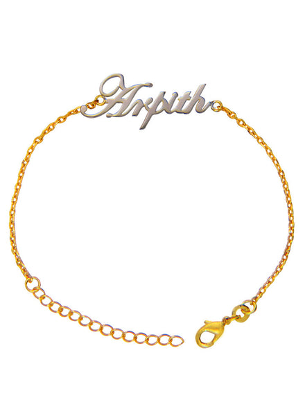 Customized Name Bracelet for Men, Women and Kids - Gold Plated LeCalla